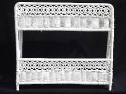 White Wicker Bathroom Drawers Vintage White Wicker Shelves Wall Mount Shelf For Bed Or Bathroom
