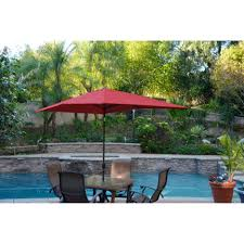Red Rectangular Patio Umbrella Beige Rectangle Patio Umbrella With Solar Lights With Round Metal