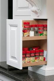 pull out spice shelf by mullet cabinet in millersburg ohio home