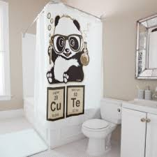 Shower Curtain Chemistry Panda Shower Curtains Zazzle