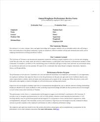 annual review report template employee review templates 10 free pdf documents free