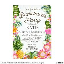 luau hawiian beach rustic bachelorette party card bachelorette