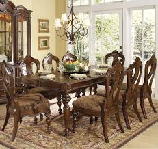 homelegance prenzo 9 piece leg dining room set in brown beyond availability in stock pieces included in this set