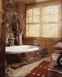 western bathroom designs moss rock around the bathtub makes a cool style statement design