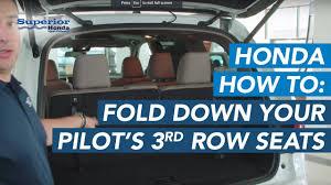 do all honda pilots 3rd row seating how to fold your honda pilot s third row seats