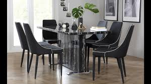 marble dining room set magnus black marble dining table by furniture choice