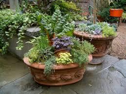 Potted Herb Garden Ideas Container Herb Garden Layout Mediterranean Perennial Mediterranean
