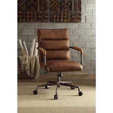 Most Comfortable Executive Office Chair Design Ideas Harith Retro Brown Top Grain Leather Office Chair Office Designs