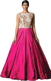dress design images yeoja creation designer pink gown in india bollywoodkart