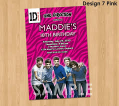 one direction party supplies one direction invitation 1d one direction birthday party