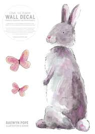 watercolour bunny fabric wall decal felt watercolour bunny fabric wall decal next