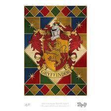 gryffindor house crest art standard limited edition print