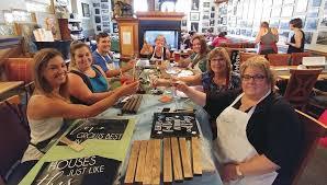 paint and cocktails work together in diy sign making workshops