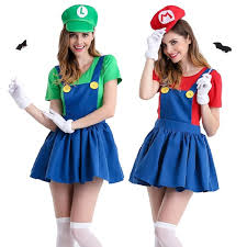 Mario Luigi Halloween Costume Aliexpress Buy Halloween Super Mario Costume Women Luigi