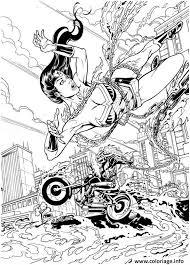 Coloriage Wonder Woman Super Heros Fille dessin