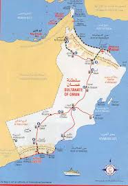map of oman maps of oman detailed map of oman in tourist map of