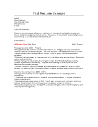 Resume Of Customer Service Manager How To Make A Plain Text Resume Resume For Your Job Application