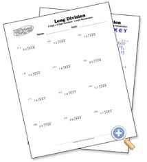 2 digit with 3 digit numbers long division with remainders