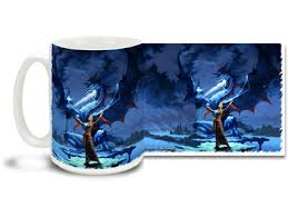 Dragon Coffee Cup Blue Lightning Dragon 15oz Mug Cuppa