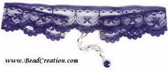navy blue lace ribbon ribbon choker necklace