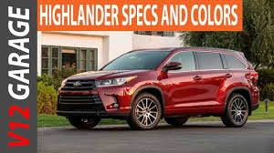 toyota highlander length 2018 toyota highlander changes colors and specs
