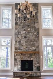 stacked stone fireplace ideas binhminh decoration