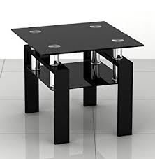 square glass end table square black glass coffee side end table with black legs by