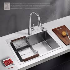 hideep sink thickening 304 stainless steel with a kitchen faucet