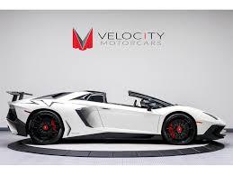 lamborghini aventador white for sale 2017 lamborghini aventador lp 750 4 sv roadster for sale in