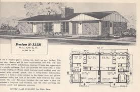 1950s homes vintage house plans 322h antique alter ego