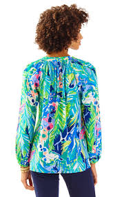Swell Lilly Pulitzer by Lilly Pulitzer Elsa Silk Top Purrfect In Blue Lyst