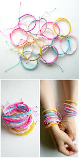 easy bracelet images Fascinating simple homemade sliding knot bracelet for friendship jpg