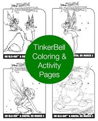 tinkerbell word coloring pages