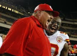 Andy Reid Meme - andy reid drenched in warm fuzzies after big win in philly huffpost