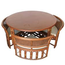 Dining Table Round Dining Table Hidden Chairs In Elegant Dining - Dining table with hidden chairs