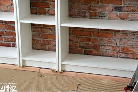Ikea Billy Corner Bookcase Dimensions Ikea Hack Billy Built In Bookshelves Part 1 Home Stories A To Z
