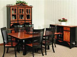 Amish Dining Room  Door Fresno Hutch - Amish dining room table