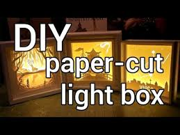 Words With Light In Them How To Make A Paper Cut Light Box Diy Youtube