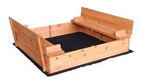 Backyard Sand Wooden Sandbox With 2 Bench Seats For Kids Outdoor Backyard Bench