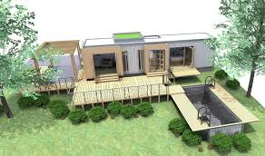 exterior exciting container houses design with garage door and