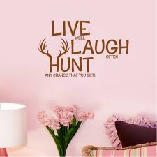 retail live laugh hunt deer wall decals quotes pvc removable art free shipping retail