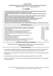 Material Management Resume Sample Sap Fico Resume Sample Resume Templates Bus Driver By Machine