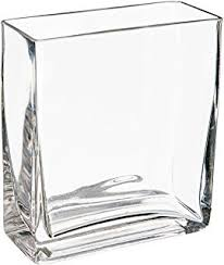 Buy Glass Vases Online Amazon Com Wgv Clear Square Twist Block Glass Vase 10 Inch Home