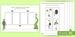 jack u0027s beanstalk lifecycle activity sheet jack and the