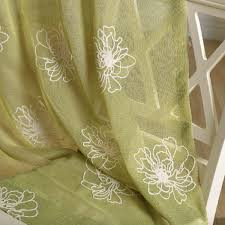 Linen Voile Curtain Fabric Embroidered Sheer Voile Curtain Fabric Embroidered Sheer Voile