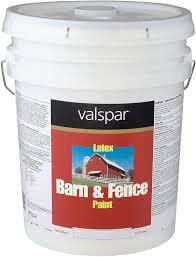 amazon com valspar 3125 10 barn and fence latex paint 5 gallon