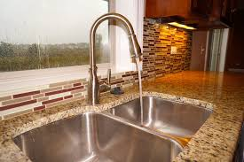 kitchen faucet placement impressive moen brantford in kitchen traditional with windows