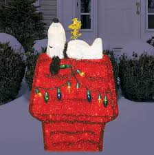 brown christmas snoopy dog house dog house christmas tree christmas lights decoration