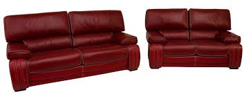 Red Leather 2 Seater Sofa Kentucky 3 Seater 2 Seater Genuine Italian Red Leather Sofa