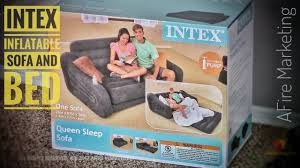 Pull Out Sofa Bed Intex Pull Out Sofa Inflatable Queen Bed Review U0026 Demo Youtube